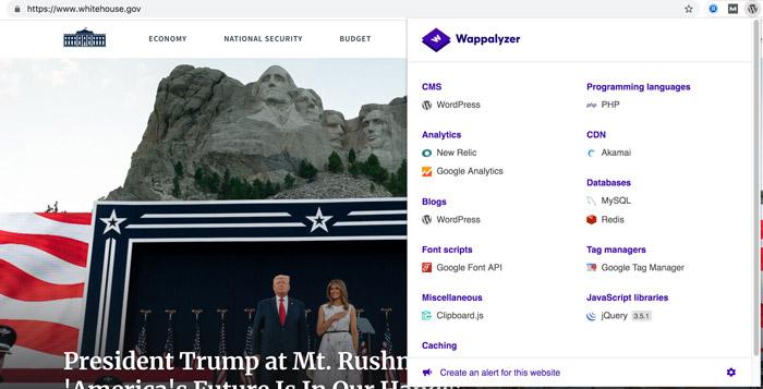 استفاده از وردپرس در سایت کاخ سفید