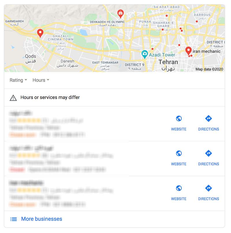 ارتقا رتبه در گوگل مپ