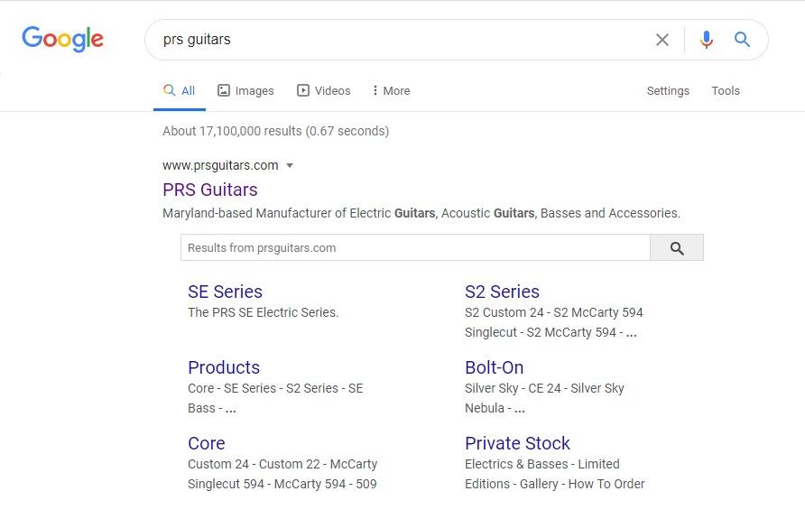 جعبه جستجوی سایت لینک